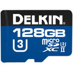 Delkin Devices 128GB 1900X UHS-II microSDXC Memory Card (U3)