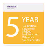 Tektronix 5-Year Calibration Service for SPG700 Multifunction Reference Sync Generator