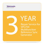 Tektronix 3-Year Repair Service for SPG700 Multi-Function Reference Sync Generator