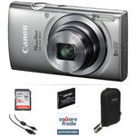 Canon PowerShot ELPH 160 Digital Camera Deluxe Kit (Silver)