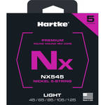 Hartke NX545 Nickel-Plated Round Wound Electric Bass Guitar Strings (5-String Set, Light, 45 - 125)