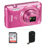 Nikon COOLPIX S6900 Digital Camera Basic Kit (Pink)