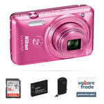 Nikon COOLPIX S6900 Digital Camera Deluxe Kit (Pink)