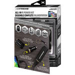 "Xtreme Cables All-in-1 Wall / Car Power Charging Kit with 8"" Micro-USB Cable (Black)"