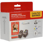 Canon PG-40 / CL-41 Ink Tank Combo Pack with GP502 Paper