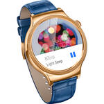 Huawei Watch Elegant Women's 44mm Smartwatch (Rose Gold Stainless Steel, Blue Italian Leather Band)