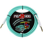 Pig Hog Vintage-Series Woven Instrument Cable (Seafoam Green, 10')