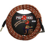 Pig Hog Vintage-Series Woven Instrument Cable (Western Plaid, 20', Right Angle)