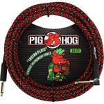 Pig Hog Vintage-Series Woven Instrument Cable (Tartan Plaid, 20', Right Angle)
