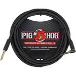 Pig Hog Vintage-Series Woven Instrument Cable (Pitch Black, 10', Right Angle)