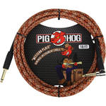 Pig Hog Vintage-Series Woven Instrument Cable (Western Plaid, 10', Right Angle)