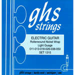 GHS 1315 Light Nickel Rockers Wound 3rd Rollerwound Electric Guitar Strings (6-String Set, 11 - 50)