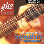 GHS LJ20X Extra Light Laurence Juber Signature Bronze Acoustic Guitar Strings (6-String, 11 - 50)