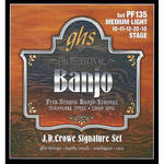 GHS PF135 J.D. Crowe Signature Stage Stainless Steel Banjo Strings (5-String Set, Loop End, 10 - 20)