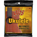 GHS Nylon Ukulele Strings (Baritone, Black Nylon/Phosphor Bronze)