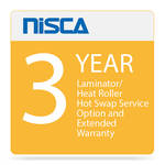 Nisca Printers Laminator / Heat Roller Hot Swap Service Option and Extended Warranty for Year 3