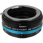 FotodioX Vizelex ND Throttle Nikon G (FX, DX & Older) to Fujifilm X-Series Mirrorless Camera Lens Mount Adapter with Built-in Variable ND Filter