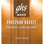 GHS PHB76 Phosphor Bronze Roundwound Electric and Acoustic Bass String (Single String, Long Scale, .076)
