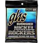 GHS BNR-XL Burnished Nickel Rockers Extra Light Roundwound Electric Guitar Strings (6-String Set, 9 - 42)