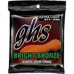 GHS BB20X Extra Light Bright Bronze Acoustic Guitar Strings (6-String Set, 11 - 50)