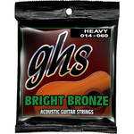 GHS BB50H Heavy Bright Bronze Acoustic Guitar Strings (6-String Set, 14 - 60)