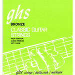 GHS 2100W Tie End Regular Classics with Phosphor Bronze Basses Classical Guitar Strings (6-String Set, High Tension, 28 - 43)