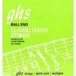 GHS 2050W Ball End Regular Classics with Silver Copper Basses Classical Guitar Strings (6-String Set, High Tension, 28 - 43)