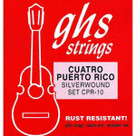 GHS CPR-10 Cuatro Puerto Rico Silverwound Strings (10-String Set, Ball End, 11 - 41)