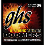 GHS GBXL-8 Boomers Extra Light Roundwound Electric Guitar Strings (8-String Set, 9 - 72)