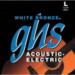 GHS WB-L Standard Light White Bronze Acoustic/Electric Guitar Strings (6-String Set, 12 - 54)