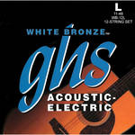GHS WB-12L Light White Bronze Acoustic/Electric Guitar Strings (12-String Set, 11 - 48)