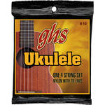 GHS H-10 Soprano/Concert Black Nylon Ukulele Strings (4-String Set, Tie End, 25 - 36)