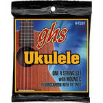 GHS H-T20F Tenor Fingerstyle Fluorocarbon Ukulele Strings (4-String Set, Tie End, 27 - 35)