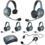 Eartec 7-Person HUB System with One Cyber, Five Double Remote, and One Single Remote Headsets