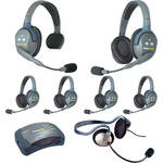 Eartec 7-Person HUB System with One Monarch, Five Double Remote, and One Single Remote Headsets