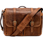ONA Brixton Camera/Laptop Messenger Bag (Leather, Antique Cognac)
