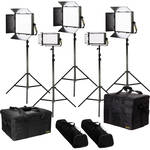 ikan Lyra Bi-Color 5-Point LED Soft Panel Light Kit with 3x LB10 and 2x LB5