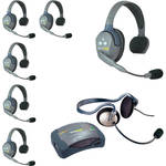 Eartec HUB7SMON UltraLITE 7-Person HUB Intercom System with Monarch Headset (USA)