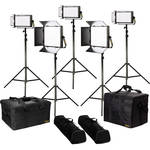 ikan Lyra Bi-Color 5-Point LED Soft Panel Light Kit with 2x LB10 and 3x LB5