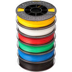 Afinia 1.75mm ABS Premium Plus Filament 6-Pack for H800, H480, & H479 3D Printers (6 x 500g, White, Red, Yellow, Blue, Green, Black)