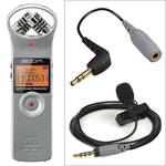 Zoom H1 Ultra-Portable Recorder (Silver) and Rode SmartLav Condenser Mic Kit