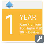 Milestone Care Premium for Husky M50 (1-Year, 80 IP Devices)