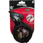 "Covert Scouting Cameras 5/16"" Master Lock Python Security Cable (Case of 6, Keyed Alike, Black)"