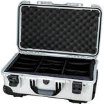 Nanuk Protective 935 Case with Padded Dividers & Padlock (Silver)