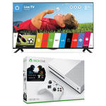 "Microsoft Xbox One S Halo Collection Bundle and LG UB8200 Series 49"" Class 4K Smart LED TV Kit"