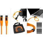 Tether Tools Starter Tethering Kit with FireWire 9-Pin Cable (Orange)
