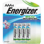 Energizer EcoAdvanced AAA Alkaline Batteries (1200mAh, 4-Pack)