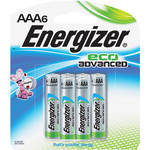 Energizer EcoAdvanced AAA Alkaline Batteries (1200mAh, 6-Pack)
