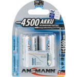 Ansmann maxE Baby C Rechargeable NiMH Batteries (4500mAh, 2-Pack, Clamshell)