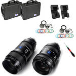 ZEISS CZ.2 Set #3 Two PL Mount Zoom Lens Bundle of 28-80 and 70-200 with Swappable Canon Mounts, Cases (Feet)